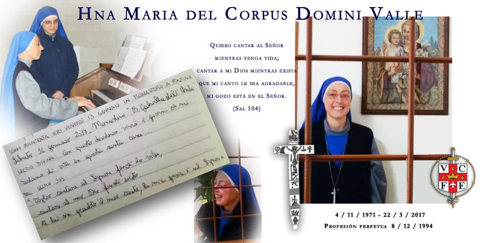 Hna. María del Corpus Domini, SSVM