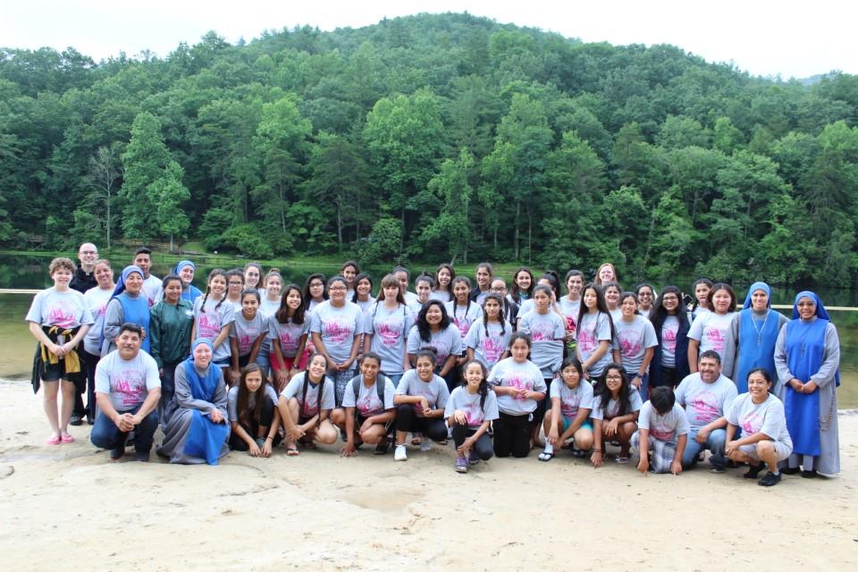 Campamento de niñas en Georgia, USA