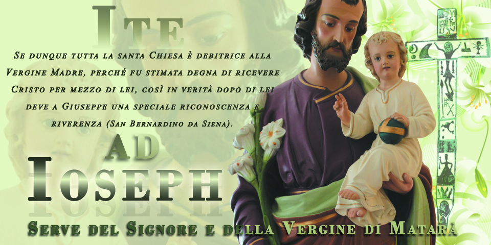 SSVM - Auguri per la Solennità di San Giuseppe