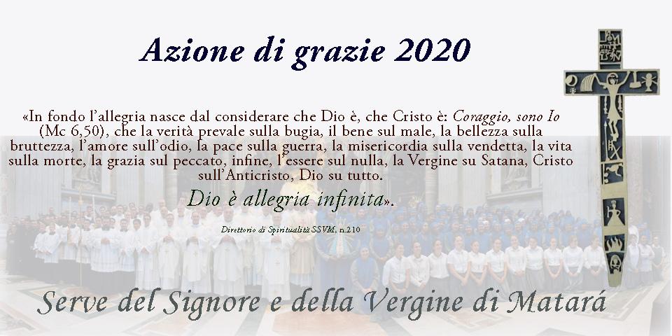 Azione di grazie 2020